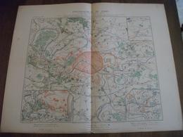 Histoire Militaire :Carte Investissement De Paris De 1870 à 1871 - Documentos