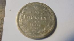 Russia 1904 Nicholas 2 20 Kop Silver - Rusia