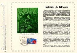 "RRR "" CENTENAIRE DU TELEPHONE "" Sur Feuillet PAC (tir.1500 Ex !) De 1976. N° YT 1905 RRR - Telecom"