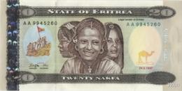 Erythrée 20 Nakfa (P4) 1997 (Pref: AA) -UNC- - Eritrea
