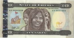 Erythrée 10 Nakfa (P3) 1997 (Pref: AH) -UNC- - Erythrée