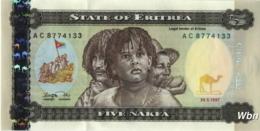 Erythrée 5 Nakfa (P2) 1997 (Pref: AC) -UNC- - Erythrée