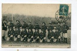 CPA  06 : Militaria  Groupe De Chasseurs Alpins  1911  VOIR DESCRIPTIF  §§§ - Other Municipalities