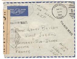 20713 - Des ETATS UNIS Pour La France Via LISBON - Poststempel (Briefe)