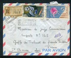 Nouvelle Calédonie - Enveloppe En Recommandé Et Exprès De Nouméa Pour La France En 1965 - Réf AT 136 - Briefe U. Dokumente