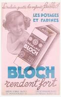 Buvard 14 X 22.1 Crème De Riz BLOCH  Tapioca Potages Farines - Alimentaire