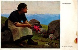 Th. Walch - Sonntagmorgen 1927 Nachporto Saalfelden - Malerei & Gemälde