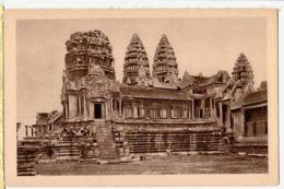 As191 Cambodge Indochine ANGKOR VAT Facade Exterieure Entree 2eme Etage 1920s Indo-Chine Cambodia CRESPIN 107 - Cambodia