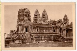 As191 Cambodge Indochine ANGKOR VAT Facade Exterieure Entree 2eme Etage 1920s Indo-Chine Cambodia CRESPIN 107 - Cambodge