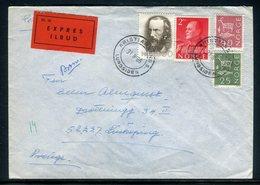 Norvège - Enveloppe En Exprès De Kristiansand Pour La Suède En 1968 - Réf AT 144 - Noorwegen