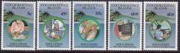 Cocos Keeling Islands 1993 Education Sc 278-82 Mint Never Hinged - Kokosinseln (Keeling Islands)