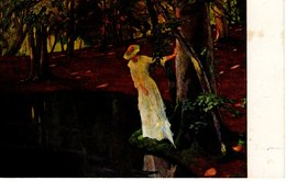 Frau Am Teich See - Maler Unbekannt Ca 1920 - Malerei & Gemälde