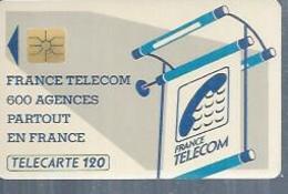 TELECARTE 120 UNITES -  600 AGENCES  - 1990 / 1991 - GEM ( Trait Long ) - Frankrijk