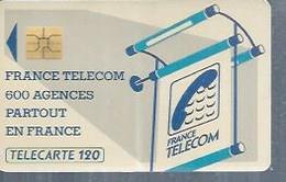 TELECARTE 120 UNITES -  600 AGENCES  - 1990 / 1991 - SO3 ( Trait Long ) - Frankrijk