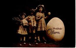 Fröhliche Ostern - Kinder Mit Osterei 1913 - Ostern