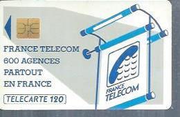 TELECARTE 120 UNITES -  600 AGENCES  - 1990 / 1991 - SO3 ( Trait Court ) - Frankrijk