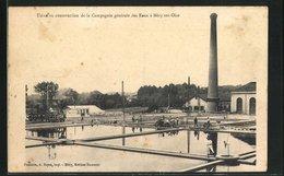 CPA Mery-sur-Oise, Usine En Construction De La Compagnie Generale Des Eaux - Mery Sur Oise