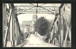 CPA Auvers, Le Pont Et L`Eglise - Frankreich