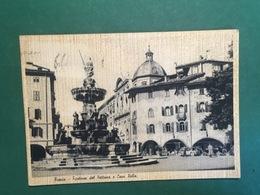 Cartolina Trento - Fontana Del Nettuno E Casa Rella - 1951 - Trento