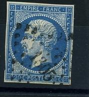N 14A Ob PC1305 - Variété : Point Blanc Au E De Postes - 1853-1860 Napoleon III