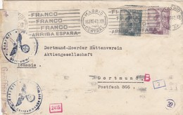 1942: Madrid To Dortmund, Censor - Espagne