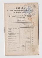 Manuel à L'usage Des Gendarmes & Agents De Police Judiciaire 1923 / Gendarmerie Gendarme - Livres, BD, Revues