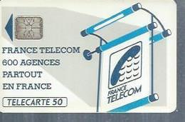 TELECARTE 50 UNITES -  600 AGENCES  - 1990 / 1991 - SC6   ( Trait Long ) - Frankrijk