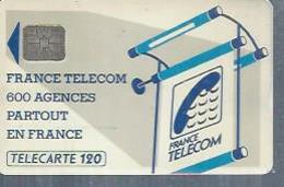 TELECARTE 120 UNITES -  600 AGENCES  - 1990 / 1991 - SC6   ( Trait Long ) - Frankrijk