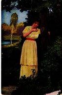 Wenn Die Nachtigall Schlägt - Frau Im Park - Herz Liebe 1921 - Malerei & Gemälde