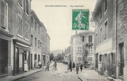 Bourg-Argental (Loire) - Rue Nationale - Edition Chareyre - Carte Animée, Cyclistes - Bourg Argental