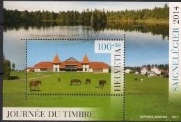 2014.13.11  Schweiz Mi.  Bl 58   **MNH Tag De Briefmarke In Saignelégier - Blocks & Kleinbögen
