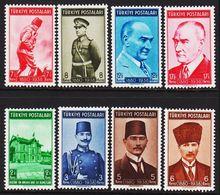 1939. Kemal Atatürk. 8 Ex.  (Michel 1063 - 1070) - JF303684 - 1921-... Republiek