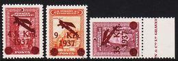 1937. AIR MAIL  3 Ex. (Michel 1016 - 1018) - JF303708 - 1921-... República