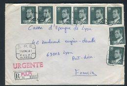 Espagne - Enveloppe En Recommandé Exprès De Pulpi Pour La France En 1987 - Réf AT 168 - 1931-Today: 2nd Rep - ... Juan Carlos I