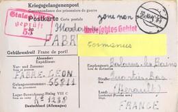 GUERRE 39-45 POSTKARTE PRISONNIER Au STALAG VIII C /53 Żagań – Rédigé Le 21-9-41 - Storia Postale