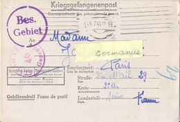 GUERRE 39-45 CORRESPONDANCE PRISONNIER DE GUERRE Français Au STALAG VII A /46 Moosburg, Allemagne Rédigé Le 18-7-43 - Marcophilie (Lettres)
