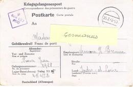 GUERRE 39-45 POSTKARTE PRISONNIER Au STALAG XII F /9 Forbach - Rédigé Le 14-2-43 - Guerra De 1939-45