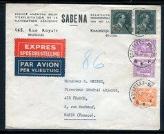 Belgique - Enveloppe Commerciale En Exprès De Bruxelles Pour La France En 1948 - Réf AT 177 - Belgium