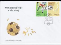 Poland 2002 FDC FIFA World Cup Football     (G101-14) - Fußball-Weltmeisterschaft