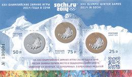 Russia, 2014. [1797II-99II] Sochi Olympics Medals (overprint) - Winter 2014: Sochi