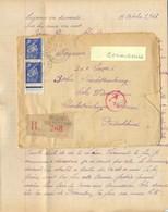 GUERRE 39-45 COURRIER RECOMMANDÉ ORLEANS Du 13-10-43 Pour Un STO D.A.F. LAGER 4 BERLIN CHARLOTTENBURG Avec Courrier - WW II