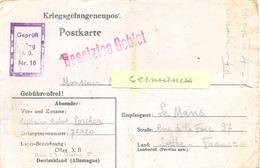 GUERRE 39-45 POSTKARTE Oflag X B Nienburg/Weser + Griffe Rouge « Repondez Bref Et Bien Lisiblement » Du 18-11-40 - WW II