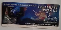 ROMANIA-CIGARETTES  CARD,NOT GOOD SHAPE,0.88 X 0.38 CM - Unclassified