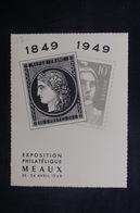 FRANCE - Carte Postale - Carte De L 'Exposition Philatélique De Meaux En 1949 - L 37774 - Timbres (représentations)