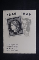 FRANCE - Carte Postale - Carte De L 'Exposition Philatélique De Meaux En 1949 - Gandon / Cérès - L 37775 - Timbres (représentations)