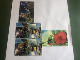 Brittish Virgin Islands 4 Different Cards - Maagdeneilanden