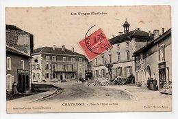 - CPA CHATENOIS (88) - Place De L'Hôtel-de-Ville 1906 (HOTEL RÉVEILLÉ) - Collection Chertier - Photo Testart - - Chatenois