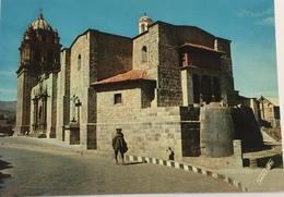 (632) Peru - Cuzco - Church San Domingo - The Sun Temple In The Front - Blauw Kruis. - Peru