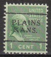 USA Precancel Vorausentwertung Preo, Locals Kansas, Plains 701 - Vereinigte Staaten