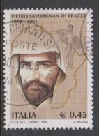 Italy Republic S 2838 2005 Pietro Savorgnan Death Centenary, Used - 2001-10: Afgestempeld